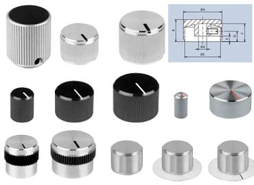 aluminium rotating knobs with screw fixing