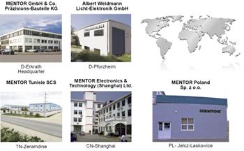 MENTOR production facilities across the globe