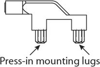 press-in-mounting-lugs