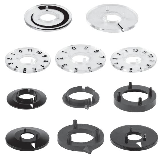 modular plastic turning knob systems