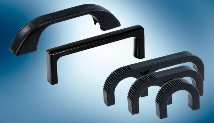 single colour plastic handles