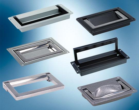 aluminium and steel folding handles