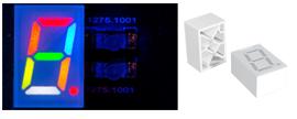 Light guide based 7 segment displays