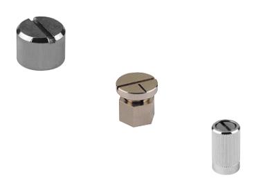 aluminium rotating knobs for screwdriver adjustment