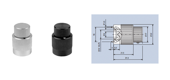 high-precision aluminium rotating knobs