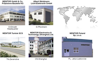 MENTOR production facilities across the globe