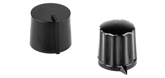 black plastic rotating knobs with screw fixing