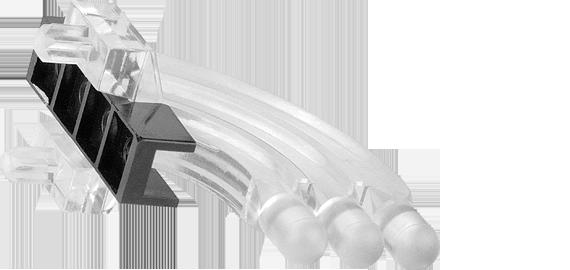 Horizontal light guide, 3 rows, Ø3mm head