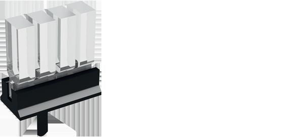 Bargraph vertical light guides