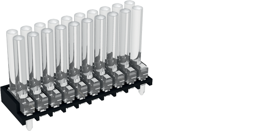 2 rows multi-element vertical light guides
