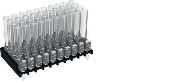 4 rows multi-element vertical light guides