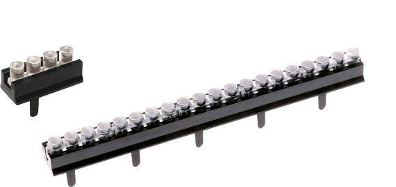 Single row multi-element vertical light guides