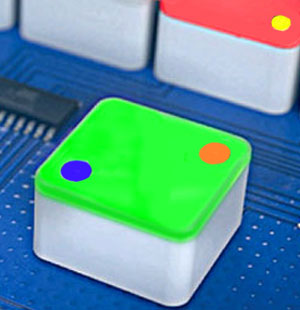 illuminated switch caps with 1 or 2 status indicators