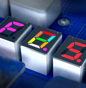 7 Segment displays with RGB LEDs for each segment