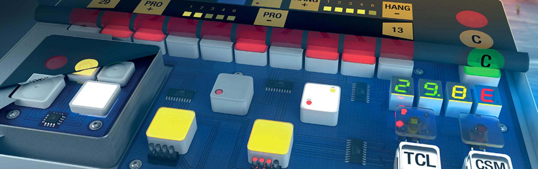 Keypad Components / Illuminated Switch Caps banner