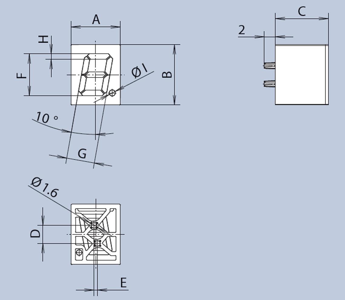 RGB 7 Segment Display diagram