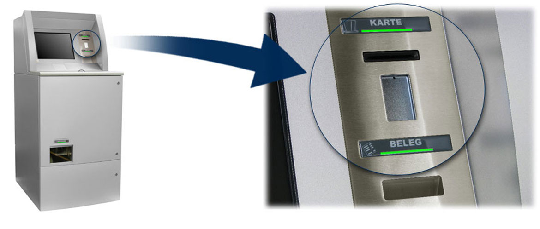 Indicator lights for slot machines