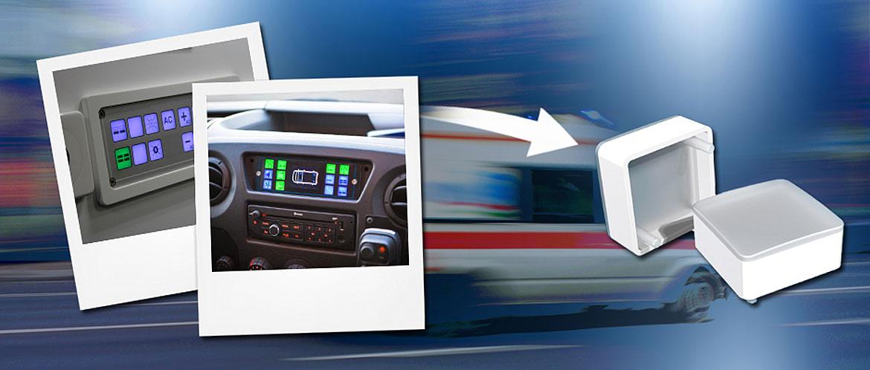 Bright illumination for dashboard control panels