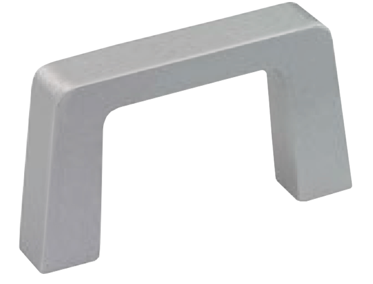 Rectangular aluminium handle for higher loads