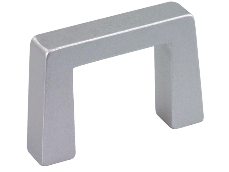 Narrow rectangular aluminium handle for higher loads