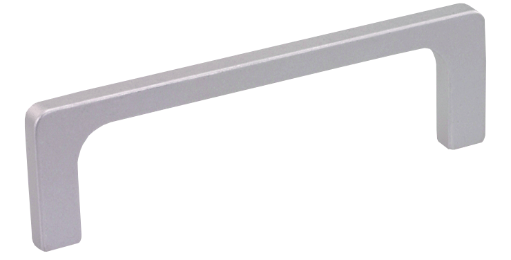 Slim profile rectangular aluminium handle