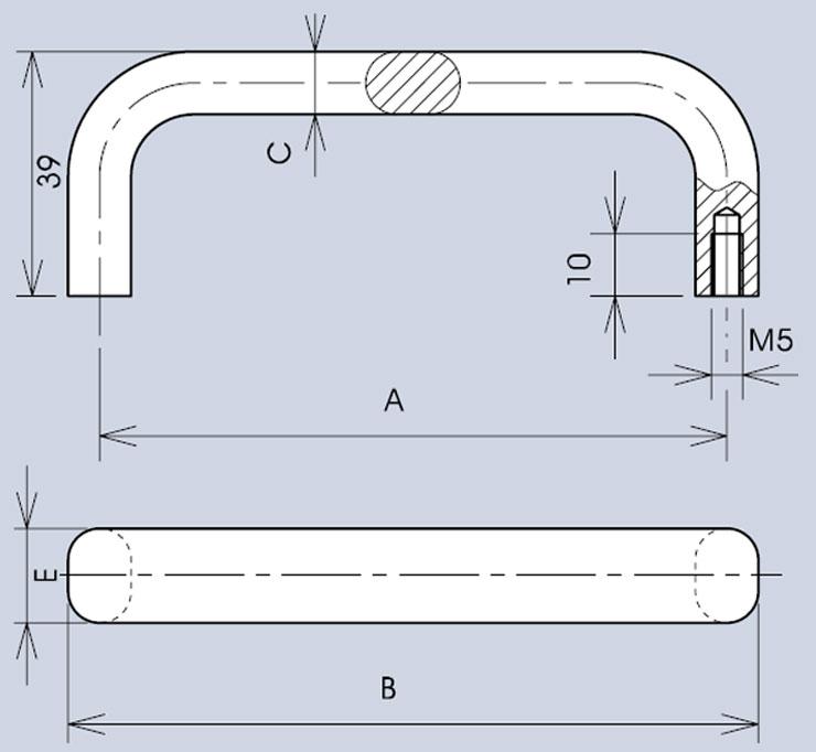 Handle 3477 dimensions diagram