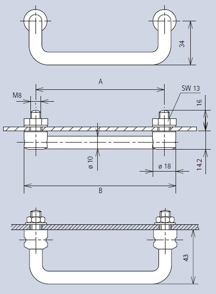 Handle 3486 dimensions diagram