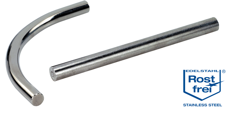 Stainless steel handle system components