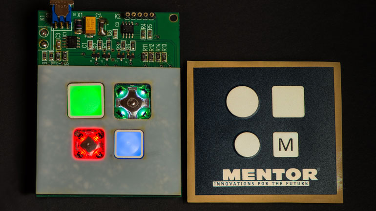 MENTOR's square and round tactile / dome switches