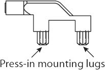 press-in-mounting-lugs