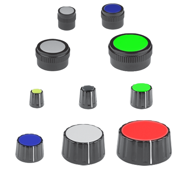 modular plastic turning knobs with collet fixing