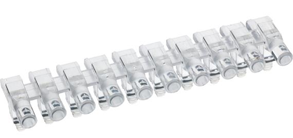 Multiple horizontal light guide, 1 row, Ø3mm head