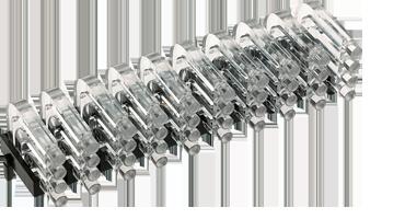 Multiple horizontal light guide, 4 rows, Ø2mm head