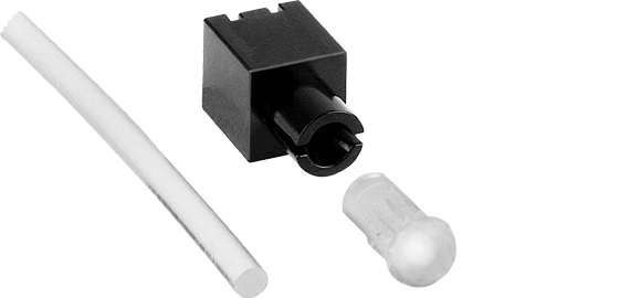 Flexible light guide systems for THT LEDs, Ø4.2mm head