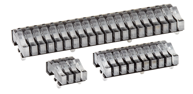 Rectangular head (bargraph) horizontal light guides