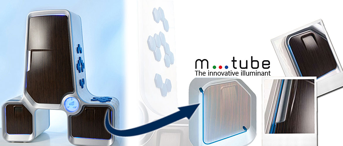Flexible M-Tube light guides for a concept fridge
