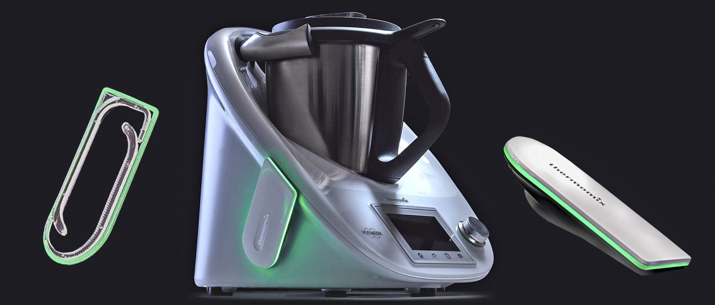 Custom product lighting for an intelligent food mixer by Thermomix