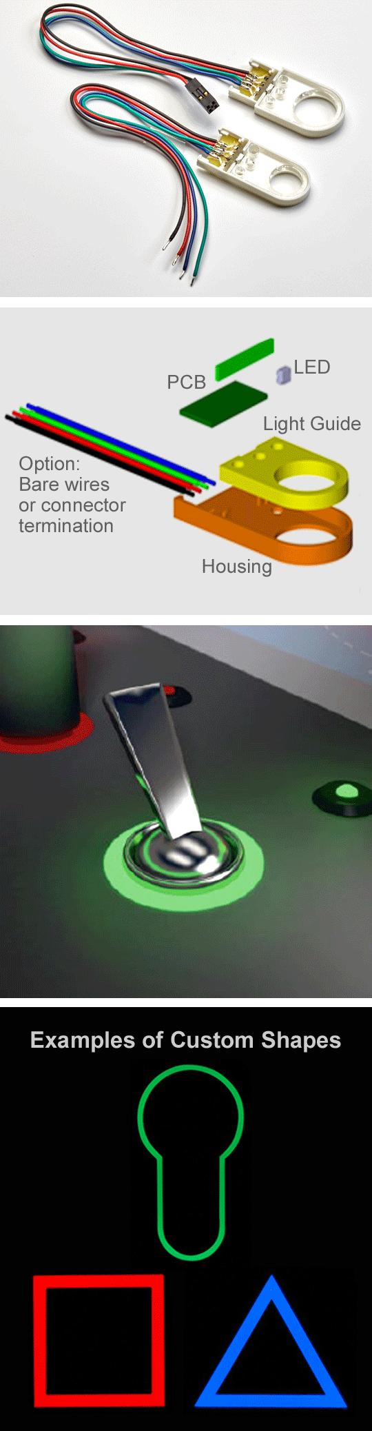 MENTOR Corona Circular Light Pipes - Multitron