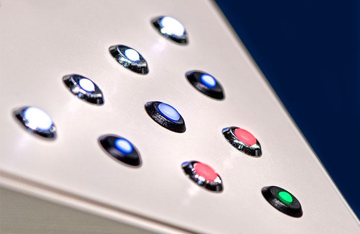 front panel LED indicator lights