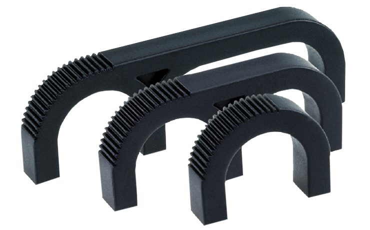Plastic rack system handles for one, two or three fingers
