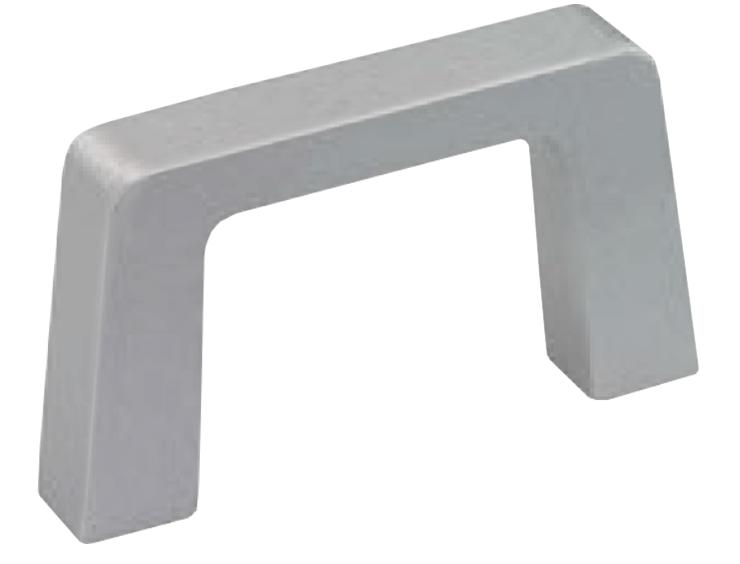 Rectangular aluminium handle for higher loads