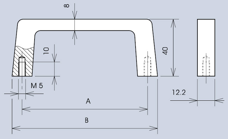Handle 3268 / 268 dimensions diagram