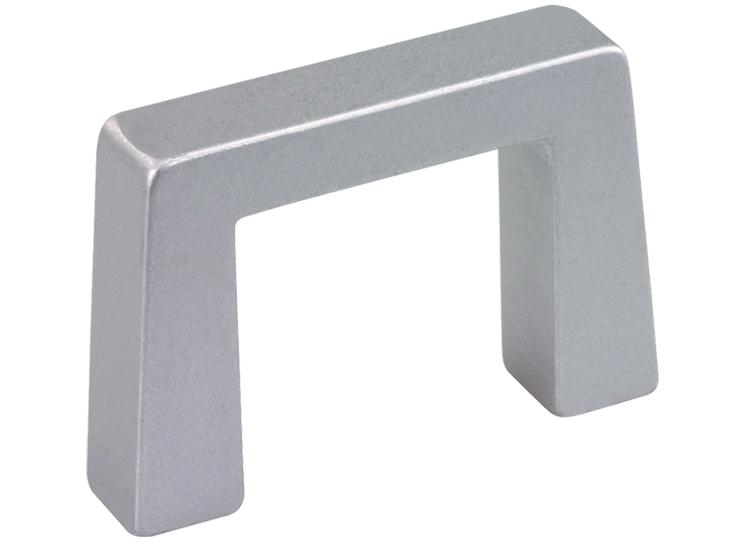 Narrow rectangular aluminium handle for higher loads