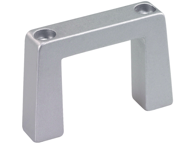 Top fixing aluminium handle for higher loads
