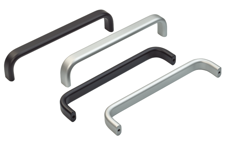 Bow handles in a choice of finishes, flat/oval profile
