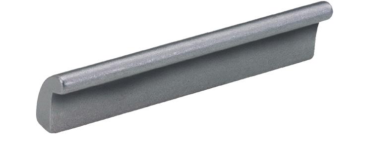 Aluminium fingertip handle - clear anodised or no finish