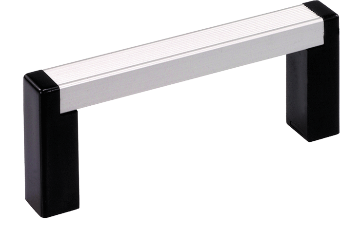 Push-fit handle system with straight brackets
