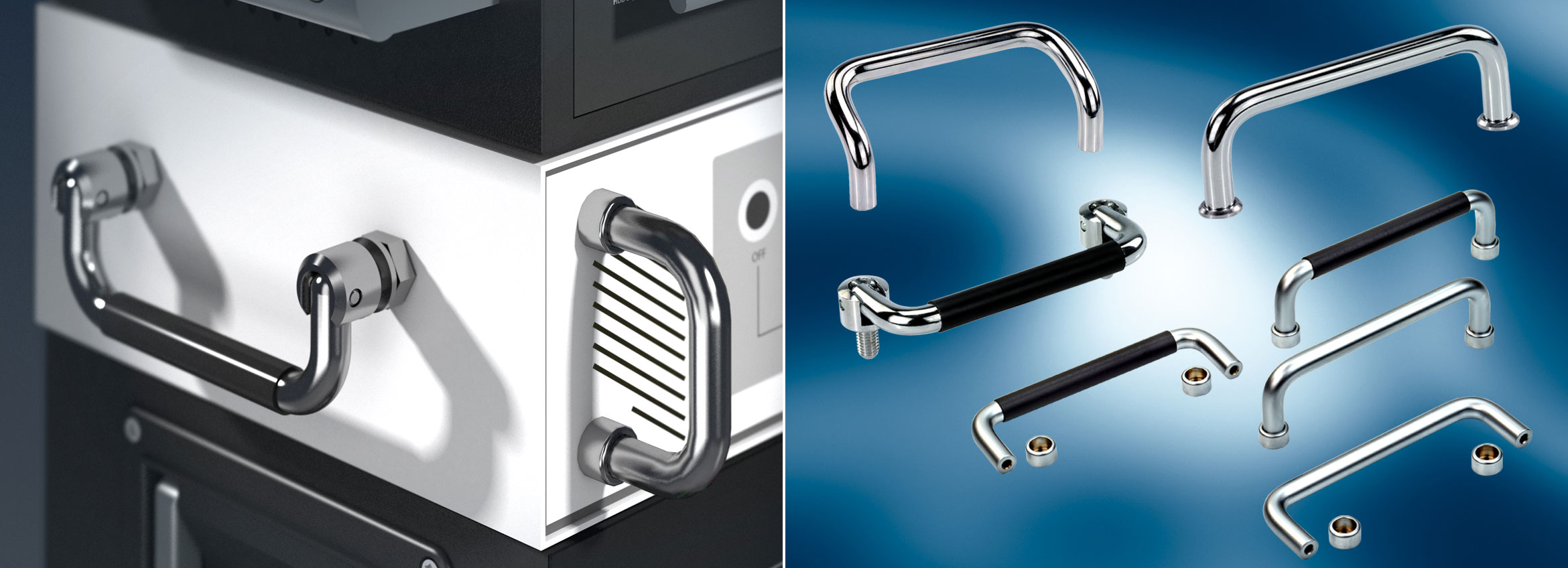 Examples of Chrome Plated Steel Handles