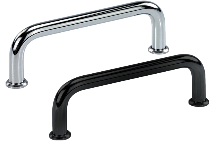 Steel handles, chrome plated or black powder coated