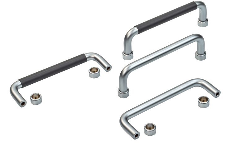 Steel chrome plated handles, with or without plastic grip